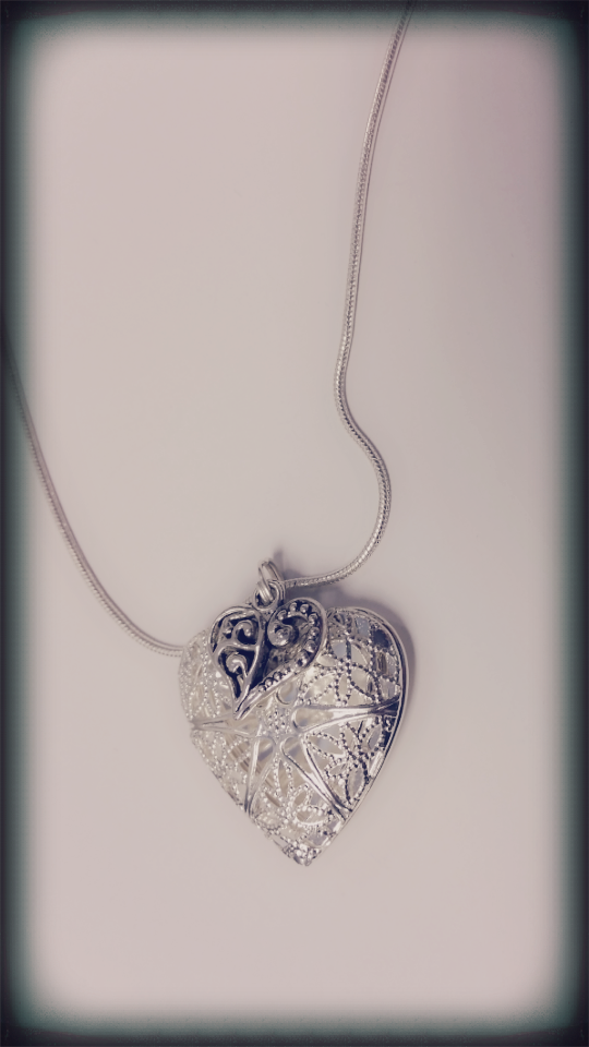 Heart on Hearts Essential Oil Diffuser Necklace